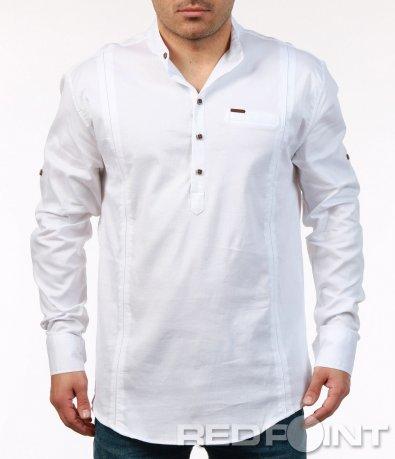 Пролетна риза с половин закопчаване 7448