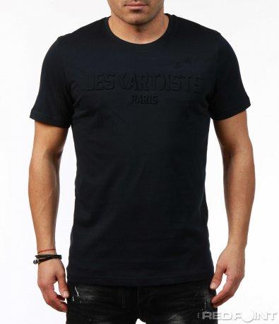 Актуална тениска с релефен надпис 7462
