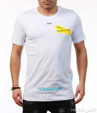 Свежа тениска с надписи 7461