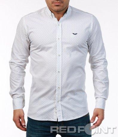 Стилна риза с малки фигурки 7481