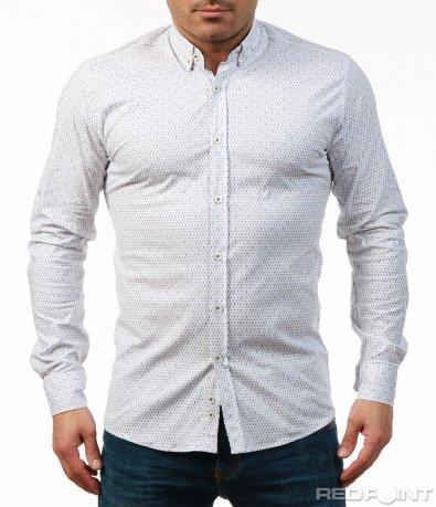 Ефектна риза  със ситни орнаменти 7484