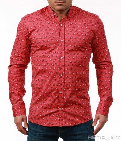 Свежа риза с флорални мотиви 7485