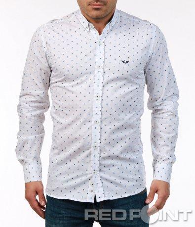 Вталена риза с цветни мотиви 7489