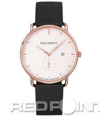 Черен часовник с бял циферблат PAUL HEWITT