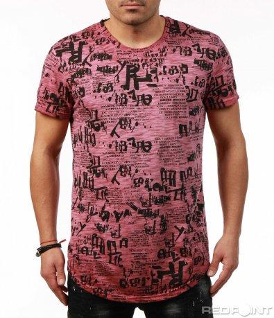 Свежа дълга тениска с щампи 7506