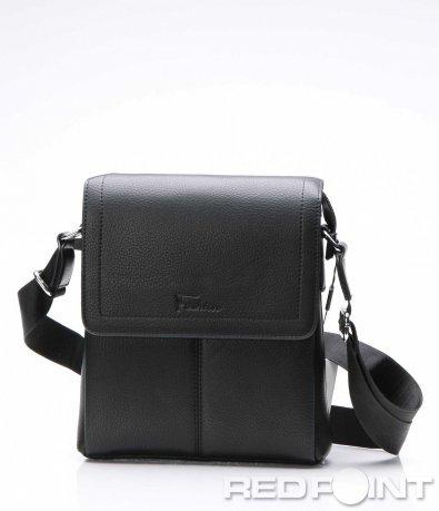 Семпла чанта с декоративни шевове 7509