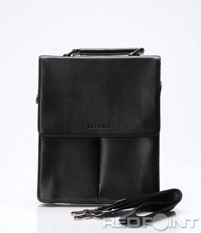 Ефектна чанта с капак и лого 7513