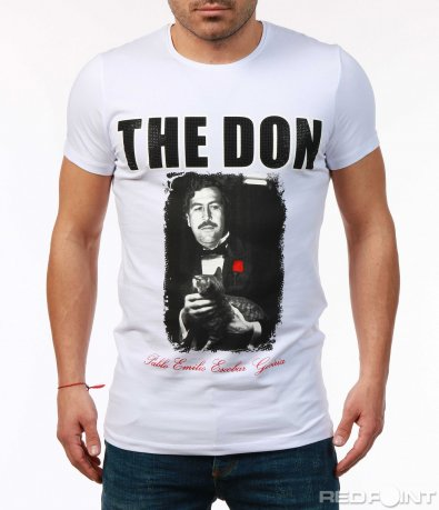 Slim тениска с щампа 7554