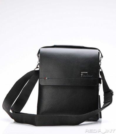 Класическа чанта с три цветни шева 7528