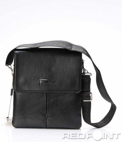 Стилна чанта с капак и лого 7538