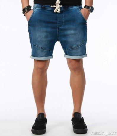 Къси панталони цвят деним 7560