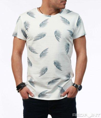 Вталена тениска с мотив 7582