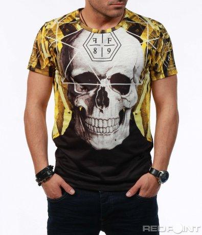 Жълта тениска с щампа 7595