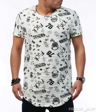 Интересна тениска с надписи 7600