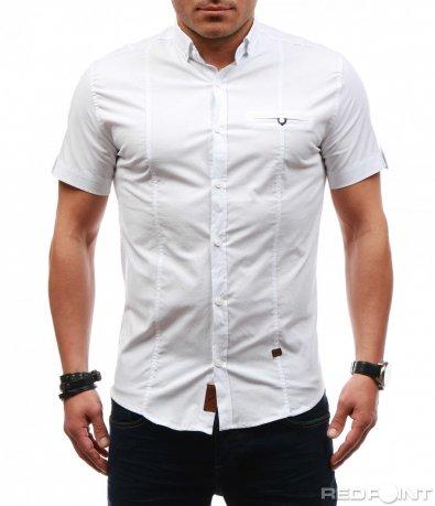 Изчистена риза с къс ръкав 7626