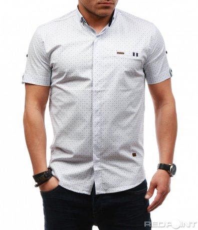 Спортно елегантна риза с къс ръкав 7627