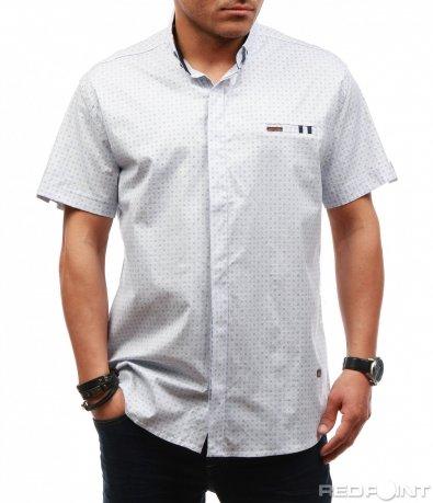 Лятна риза с къс ръкав 7629