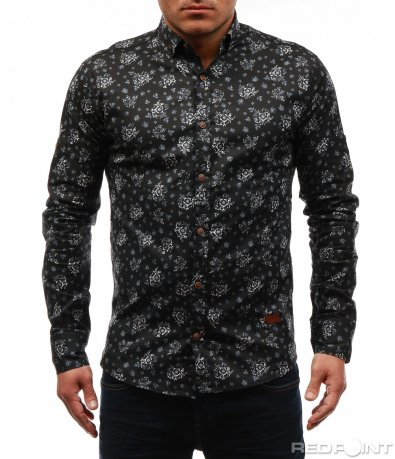 Авангардна черна риза 7630