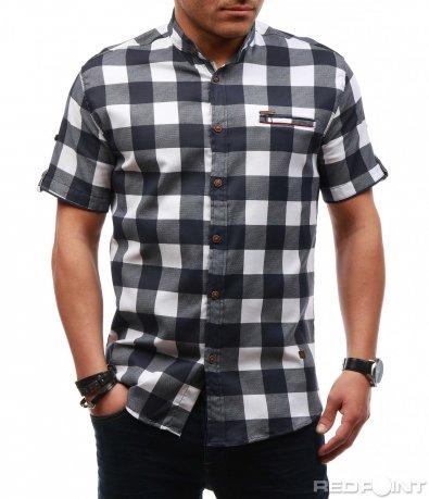 Свежа риза с кариран десен 7633