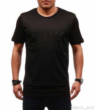 Стилна тениска със семпъл надпис 7620