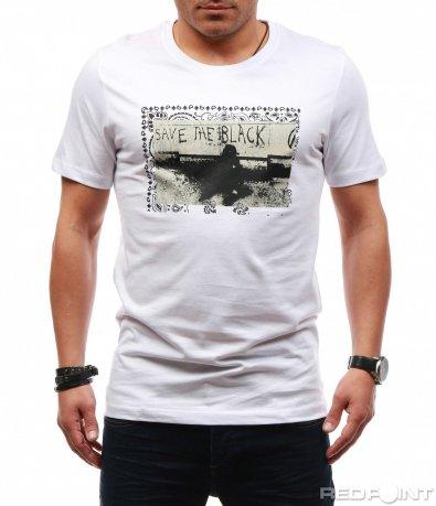 Класическа тениска с щампа 7622