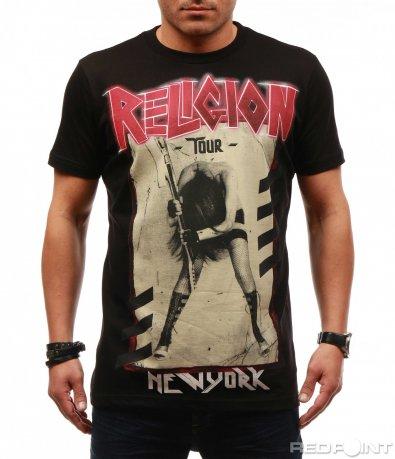 Тениска с рок изображение и надпис 7649