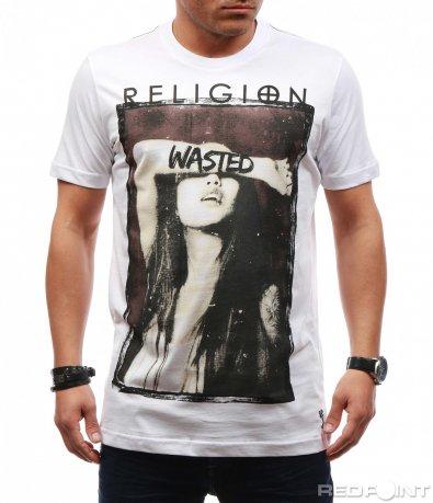 Slimfit тениска с щампа 7650