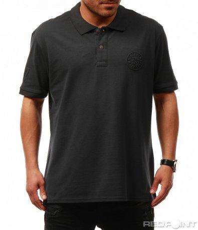 Изчистена тениска с емблема 7687