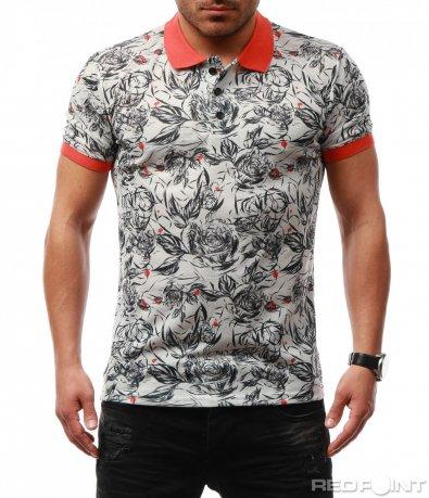 Атрактивна тениска с яка 7695