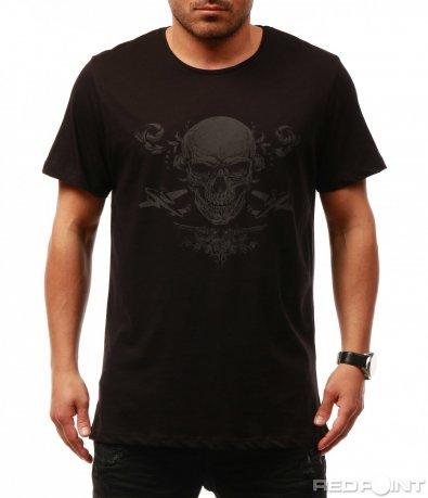 Модерна тениска с череп 7676