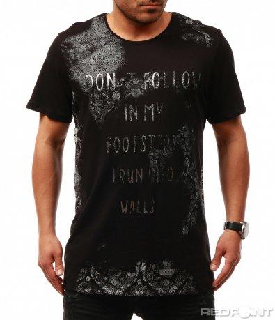 Тениска с нетипичен принт 7679