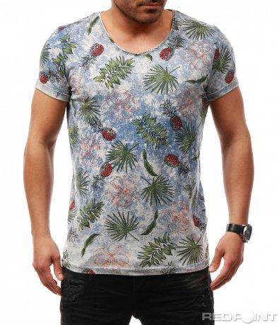 Цветна лятна тениска 7707