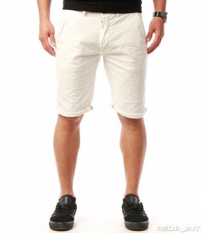 Класически светли къси панталони 7752