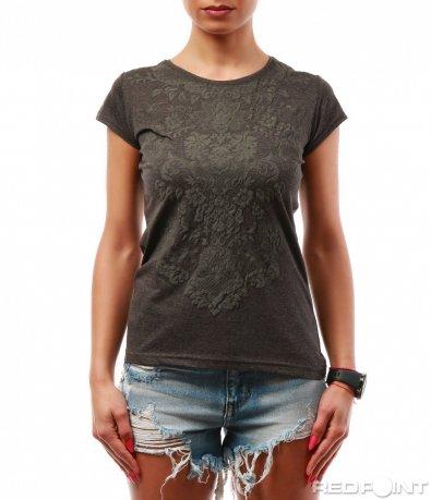 Тениска с декорации 7737
