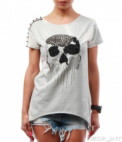 Тениска с череп 7745