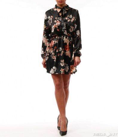 Елегантна черна рокля 7736