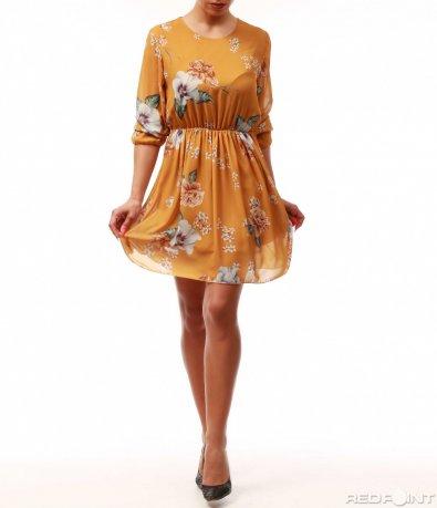 Оранжева лятна рокля 7739