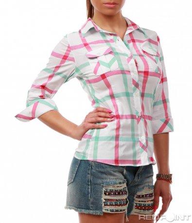 Свежа риза с джобчета 7795