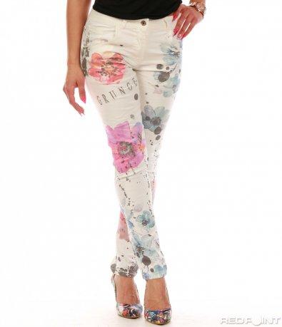 Панталон с цветни щампи 7800