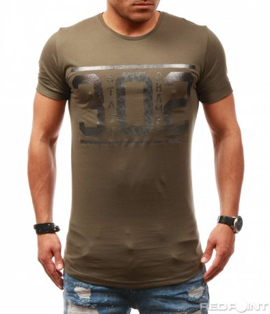 Сива тениска с щампа 7830