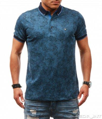 Свежа поло тениска с принт 7824