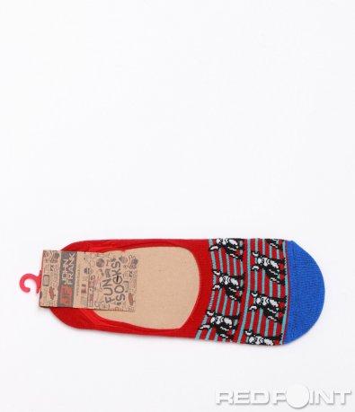 Изрязани чорапи с цветен принт 6368