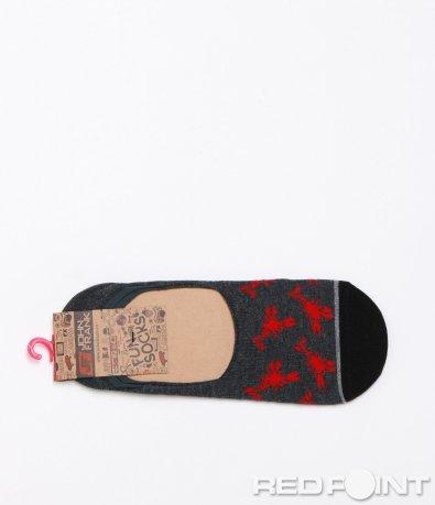 Ефектни тъмни чорапи с орнамент 7810