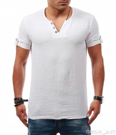 Ежедневна тениска с лен 7865