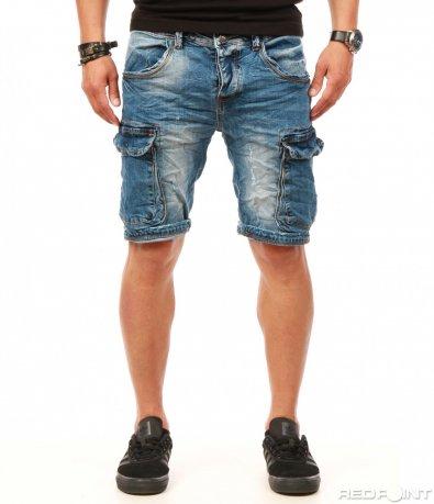Къси дънкови панталони с джобове 7866