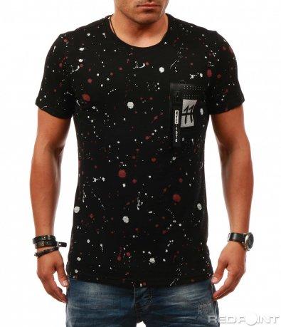 Пъстра тениска с декорация 7875