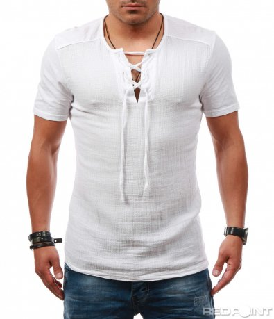 Свежа тениска с бод деколте 7879