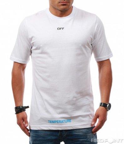 Памучна тениска с декорация 7888