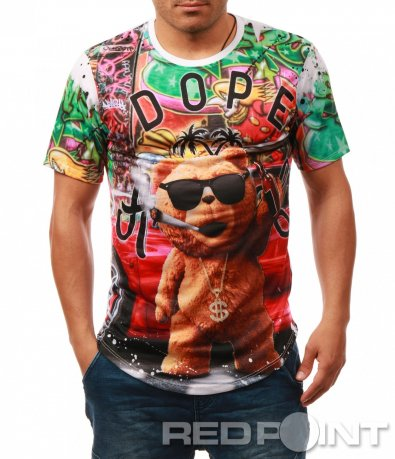 Щура тениска с цветна анимация 7901