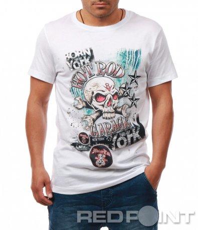 Свежа тениска с цветна щампа 7902